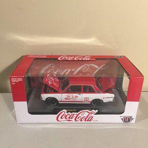 Coca-Cola 1970 Datsun 510 Die Cast Car 1:24 Scale